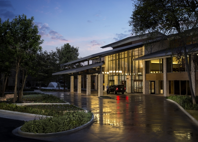 Front entrance of the conference center