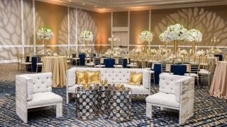 Beautifully decorated Woodlands Ballroom