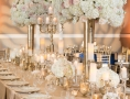 Wedding reception tables decorated