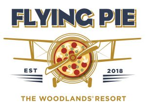 The Flying Pie logo shows a plane flying with a pizza as the engine.